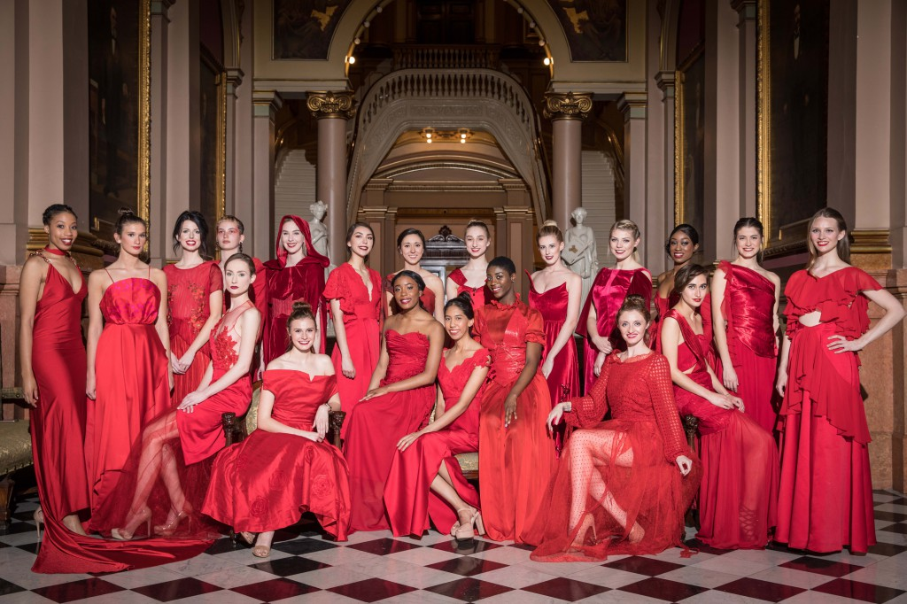 Fashion design students showcased 27 stunning red dresses at the American Heart Association's Rock the Red Runway fashion show.