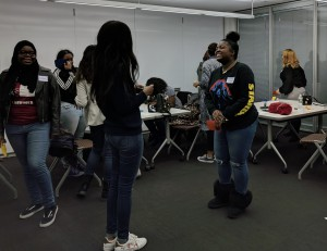 High school girls from several area public and charter high schools visited East Falls Campus.
