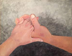 """My Grandpa's Hands"" by doctorate in occupational therapy student Sarah Weinblatt will be on display."