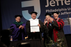 Prince Albert II of Monaco was awarded the honorary degree Doctor of Humane Letters.