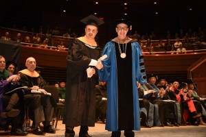 Renowned photographer Platon Antoniou received the honorary degree Doctor of Science from Dr. Klasko.