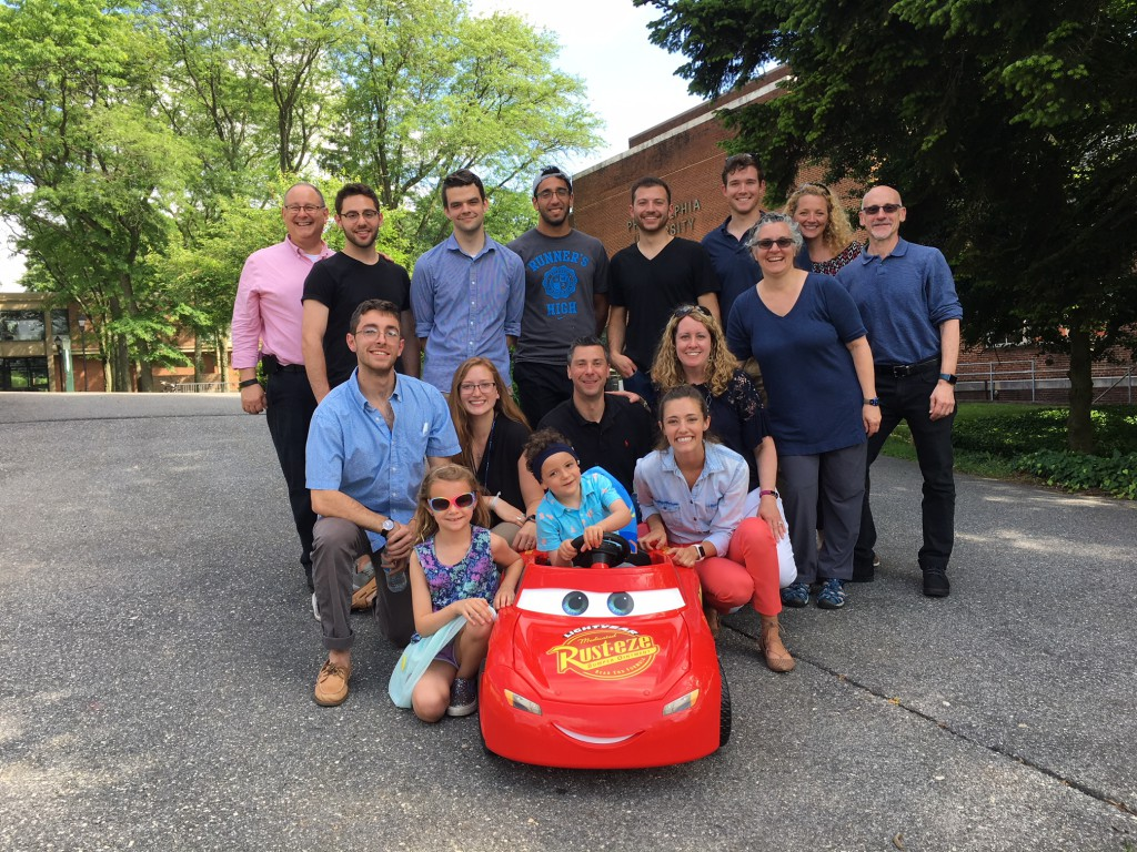 Industrial design, physical therapy, occupational therapy and engineering students and faculty from both campuses worked together to modify an off-the-shelf car for Logan Sharples.