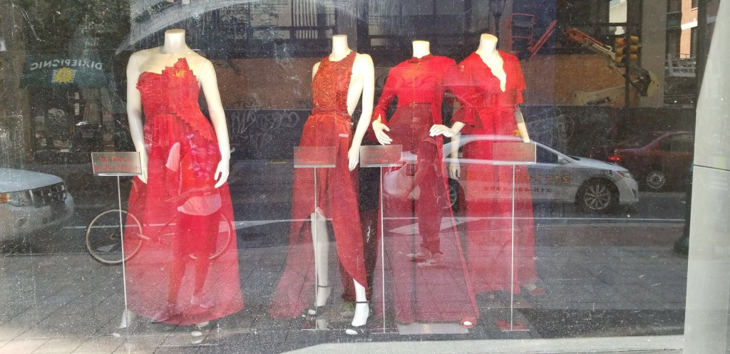 The red gowns created by fashion design students are the product of an annual collaboration between Jefferson and the American Heart Association.
