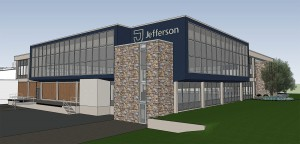 A rending of the Jefferson Institute for Bioprocessing at Spring House Innovation Park.