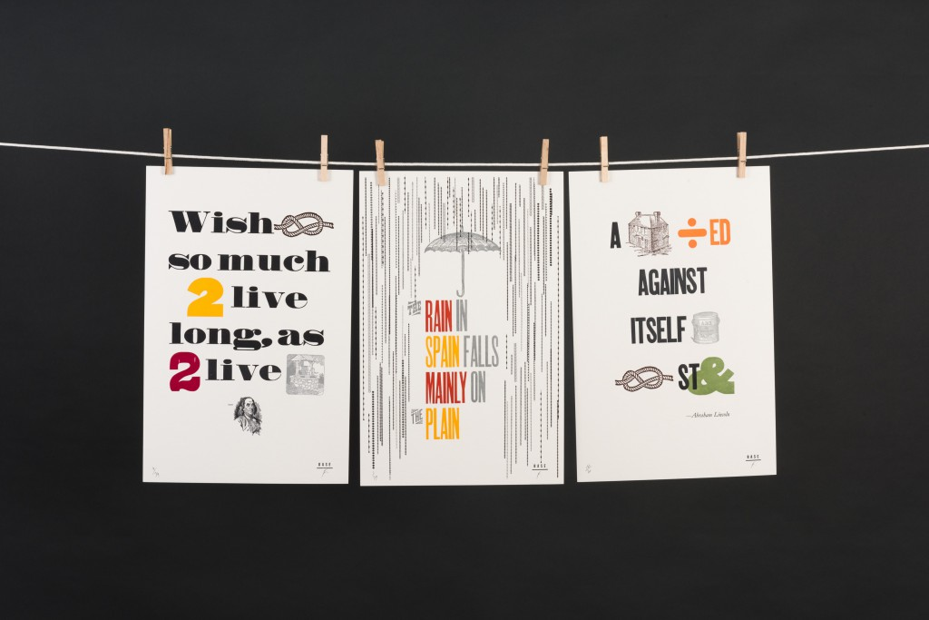 Frank Baseman's exhibition combines two of his favorite interests: rebuses, those words and images coming together to make a visual puzzle, and letterpress printing, a centuries-old method of relief printing.