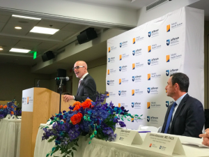Dr. Klasko spoke at the dedication ceremony of the Sidney Kimmel Medical College Regional Campus at Atlantic Health System, based at Morristown Medical Center and Overlook Medical Center.