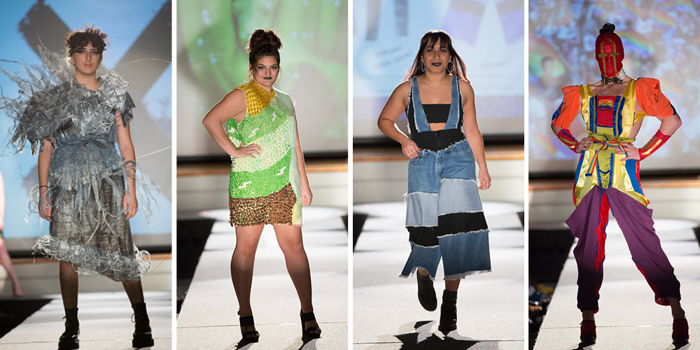 Twenty-six fashion design students displayed 39 whimsical pieces, all modeled by University students.