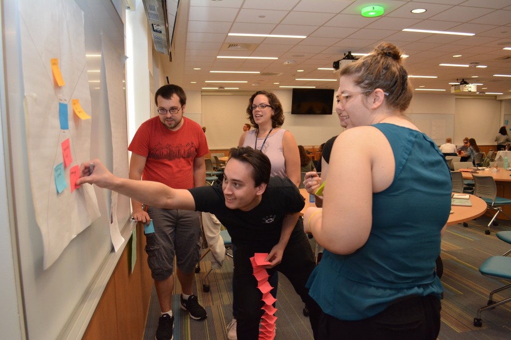 Both the pharmacy and graphic design students benefited from the design-thinking activity.